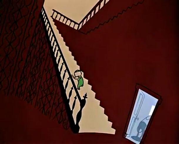 Gerald McBoing-Boing, plano inspirado en el expresionismo alemán.